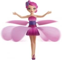 Оригинальная летающая фея Flying Fairy с подсветкой и музыкой, цвет розовый