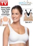 Бюстгальтер Джини Бра Genie Bra (3 шт. в комплекте) со вставками для груди (размер L)