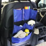 Защита для спинки сиденья + Органайзер для автомобиля, 6 карманов (синий,черный )