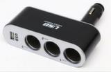 Автомобильное зарядное устройство Autolader с USB и 3 выходами 12 в