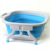 Ванночка складная силиконовая для ног с массажными элементами Foldable Foot Bucket