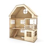 Домик 3 этажа с лесенкой и балконом