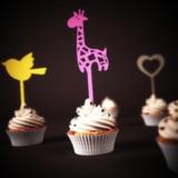 Топпер для капкейков Жираф второй вариант
